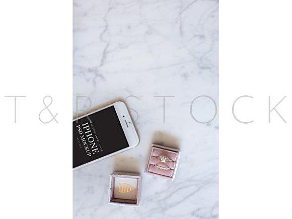 IPhone Mockup Wedding Flat Lay