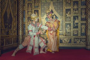 Khon, pantomime performances action