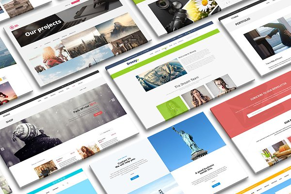 Perspective Desktop Screen Mock-up 3 PSD Mockup | 1000 Free