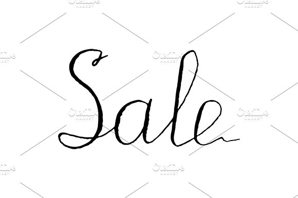Sale Word Lettering Vector