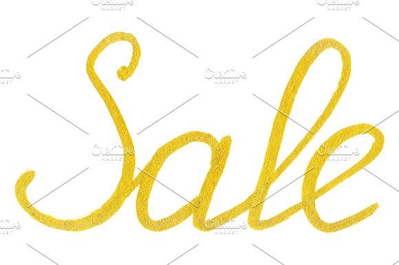 Golden Sale Word Lettering Vector