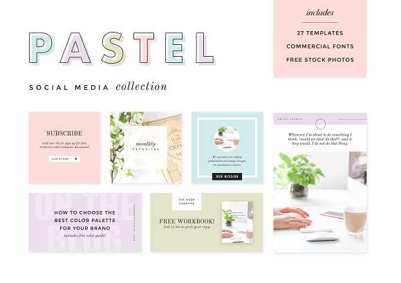 Pastel Social Media Collection