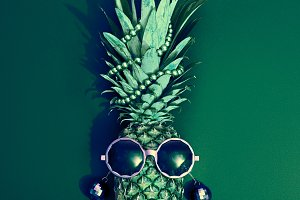 Pineapple Fashion Hipster Party Mood. Art Gallery