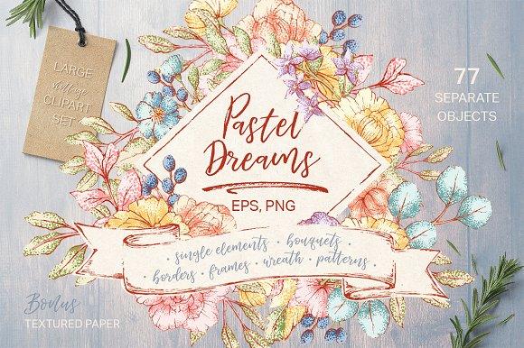 Pastel Dreams Vector Clipart