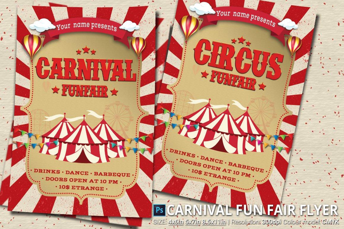 Carnival Fun Fair Flyer Poster Flyer Templates Creative Market