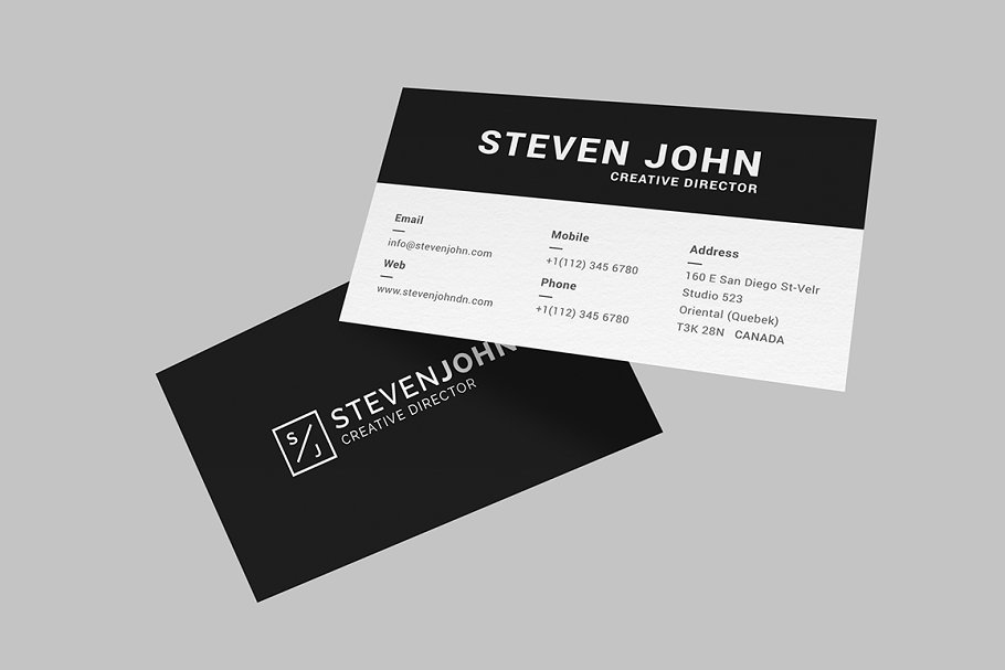 Black Minimal Business Card