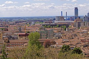 View of city of Brescia Lombardy,