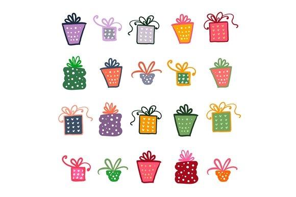 Doodle Set Of Presents