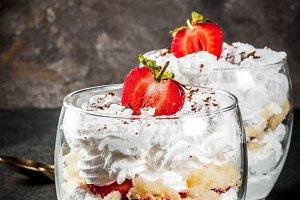 Summer strawberry parfait