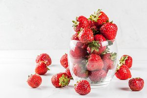Fresh raw organic strawberry