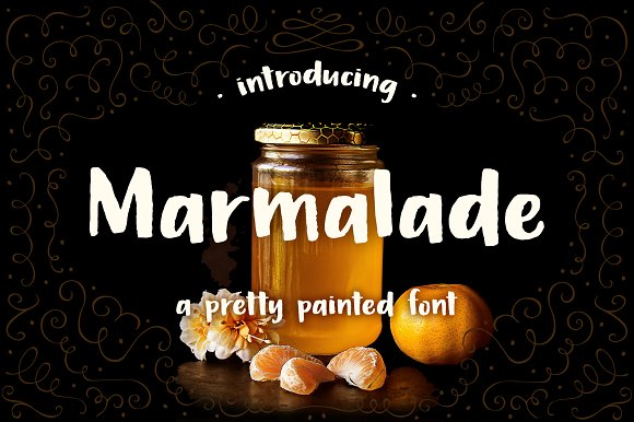 Marmalade A Hand Painted Font