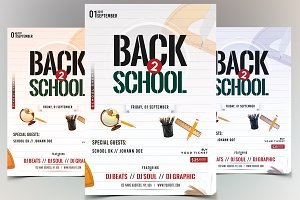 Back to School - PSD Flyer Template