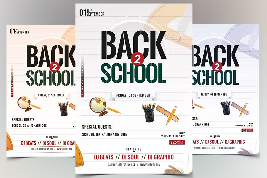 Back To School Psd Flyer Template Flyer Templates Creative Market