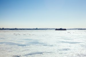 Hudson River Ferry run between NJ NY