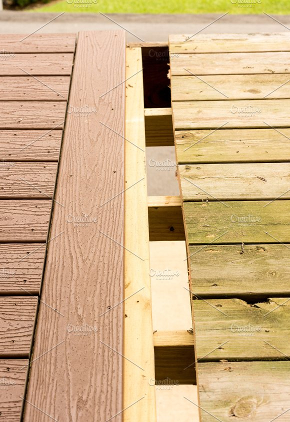 Replacement Of Old Wooden Deck With Composite Material