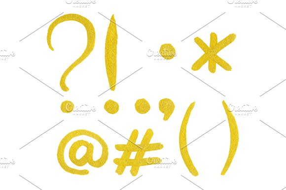 Golden Gold Punctuation Mark Isolate
