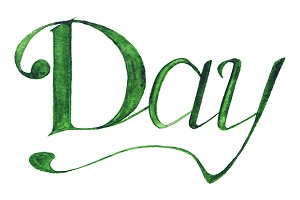 Day word italic lettering isolate
