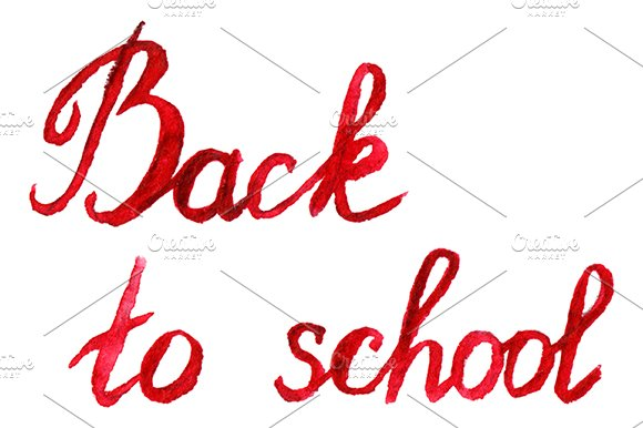 Back To School Ink Phrase Lettering