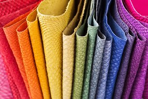 Colorful Leather samples