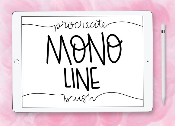 Mono Line Procreate Brush