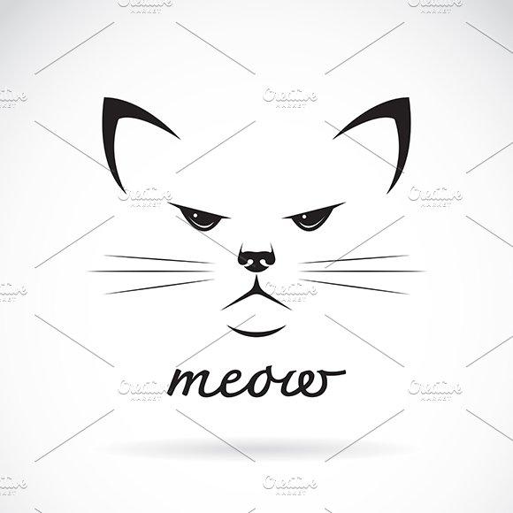 Vector Of A Cat Face Design Pet