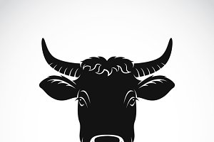 Vector of cow face. Farm Animal.