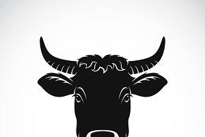 Vector of cow face. Farm Animal.