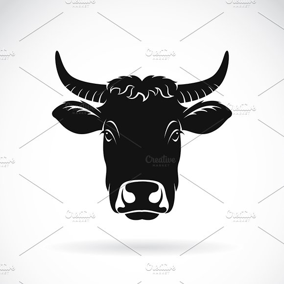 Vector Of Cow Face Farm Animal