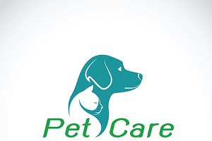 Vector of pet care shop design. Logo