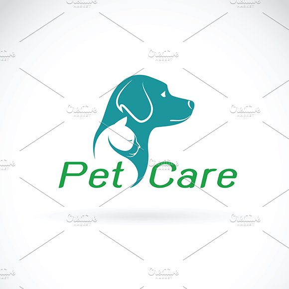 Vector Of Pet Care Shop Design Logo