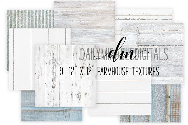 9 Farmhouse texture digital papers