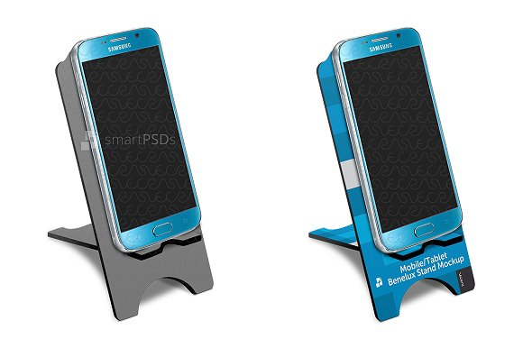 Mobile Tablet Benelux Stand Mockup