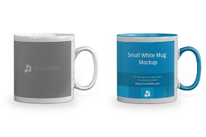 Small White Coffee Mug Design Mockup