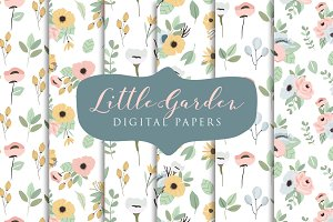 Little Garden- Digital Papers