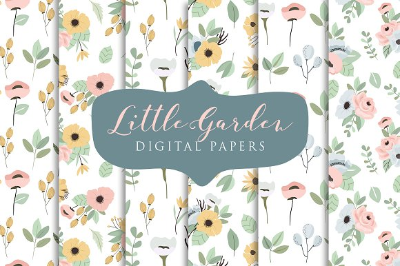 Little Garden- Digital Papers