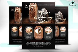 Pet Grooming Salon Flyer