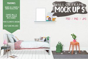 Kids Room Wall/Frame Mock Up 5