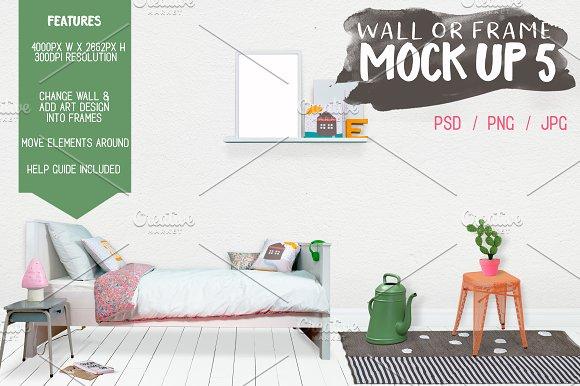 Kids Room Wallframe Mock Up 5 Product Mockups Creative Market