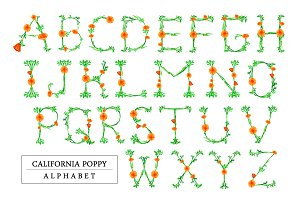 California Poppy Alphabet