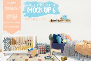 Kids Room Wall/Frame Mock Up 6
