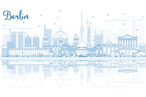 Outline Berlin Skyline