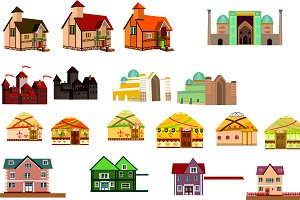 Vector houses set