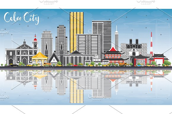 Cebu City Philippines Skyline