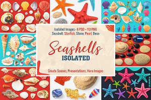 Isolated Seashells & Stones