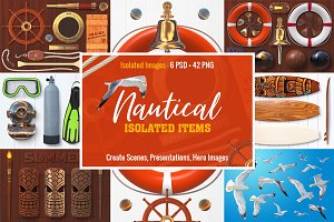Isolated Nautical Items