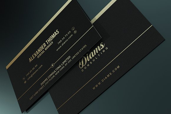 Simple gold business card business card templates creative market colourmoves