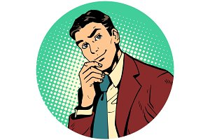 Round avatar icon symbol character image