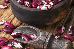 Red kidney beans in a bowl
