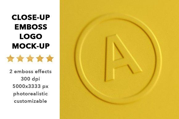 Download Close-up logo mock up