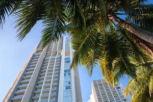 Luxury hotel buildings